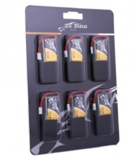 Pack 6 batteries Tattu 350mAh 30C 1S