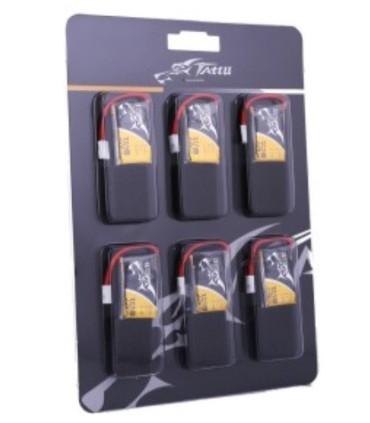 Pack 6 batteries Tattu 350mAh 30C 1S1P