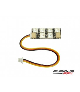 FuriousFPV Sola Fila de la Tira del LED (4 Tiras) Gusano. 2