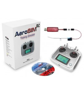 Simulateur de vol Aerosim RC (drone, avion, hélico...) avec radiocommande