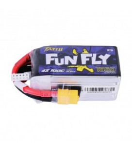 Lipo battery 4S (1550mAh 100C Tattu