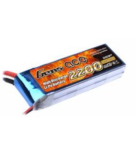 Batería de Lipo Gensace 2S 2200mAh 25C