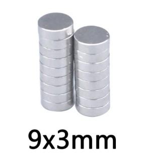 Magnets neodymium N35 9x3mm (5)