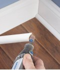 Strips of sanding with a Dremel SC407 SpeedClic with chuck