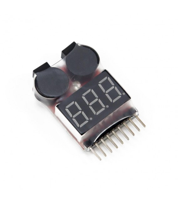 Tester-Buzzer for LiPo batteries of 1 to 8S