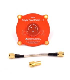 'antenne Triple Feed Patch est une antenne directionnelle à polarisation circulaire. (Droite et gauche)