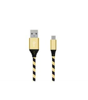 Micro USB cable - Black/Gold
