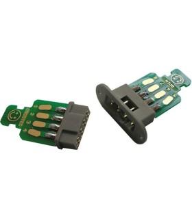 Connecteur à ailettes avec cadre de fixation à 8 broches EMCOTEC