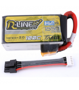 Batterie Tattu R-Line V2 4S 1550mAh 100C (câble détachable)