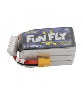 Batterie Lipo Tattu FunFly 6S 1550 mAh 100C