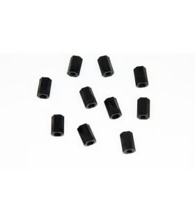 Entretoise nylon noir femelle/femelle M3x10 (par 10)