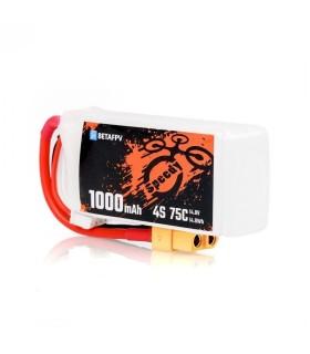 Batterie BETA FPV 4S 1000mAh 75C (par 2)