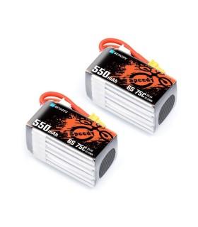 Batterie BETA FPV 6S 550mAh 75C (par 2)
