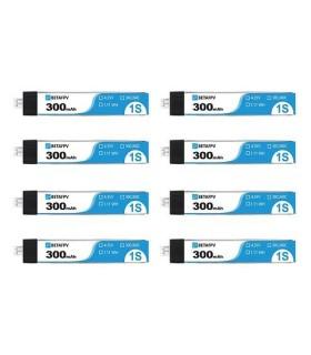Batteries Beta FPV 300mAh 1S 3,8V 30C TW (par 8)