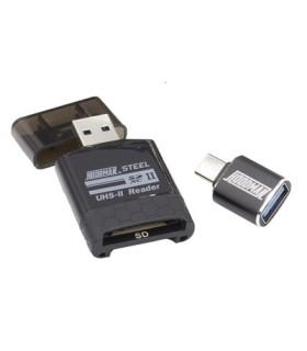 Lecteur de cartes SD/Micro SD UHS-II Hoodman