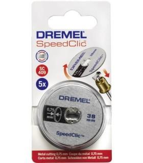 5 disques de tronçonnage minces SpeedClic Dremel SC409