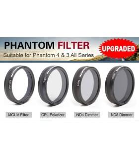 Filtres Sunnylife pour DJI Phantom 3 et 4